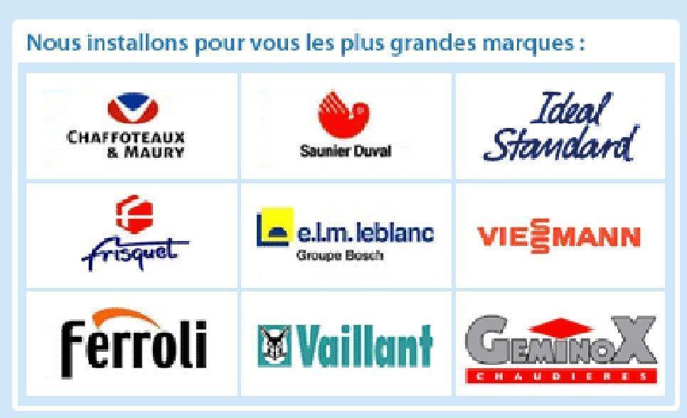 Marques partenaires d'Artisans Bernard et Sylvestre à Paris 75017