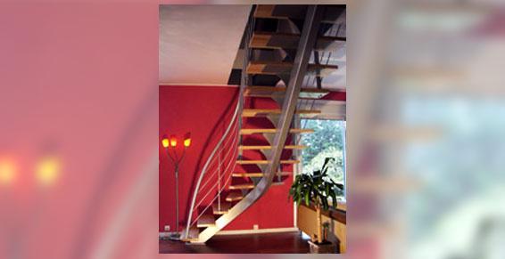 Escaliers bois et métal