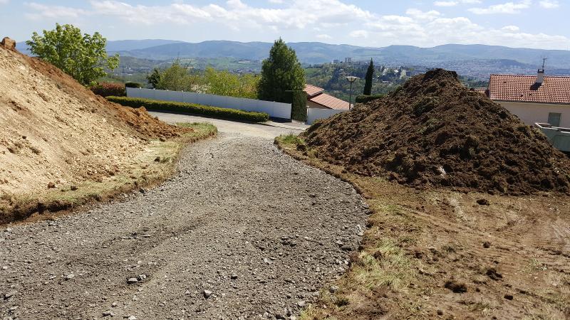 Travaux sur les trottoirs à Montagny