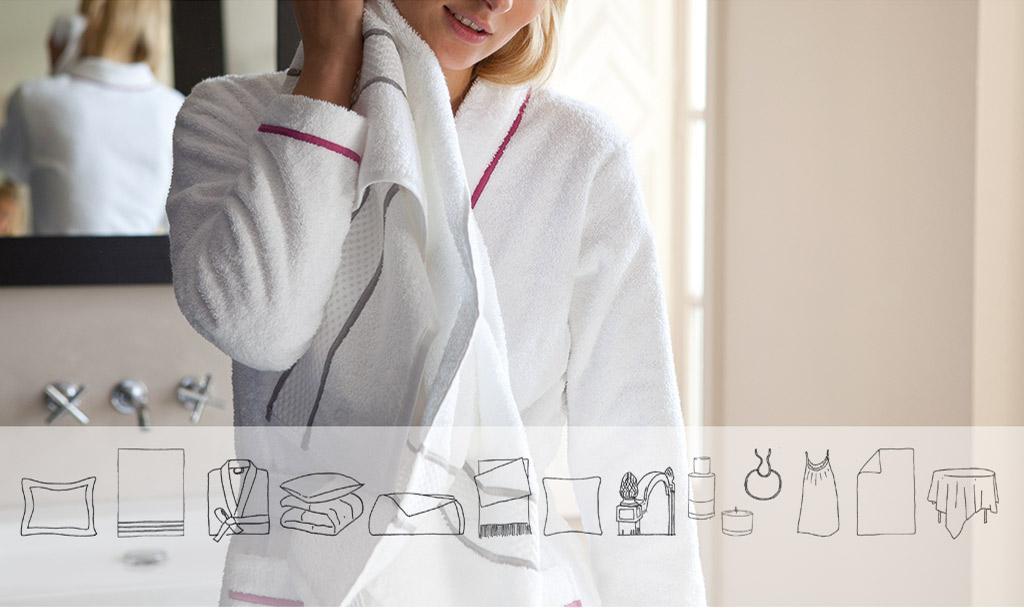 Signature Y. Delorme vous propose d'offrir du linge de bain brodé en H