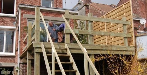 Terrasse en hauteur