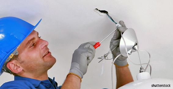 Electricité générale entreprises - Câblage lustre