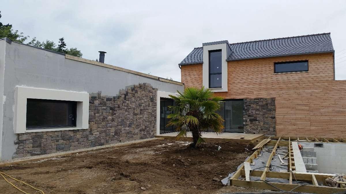 facade en pierre collée - MFDS Constructions
